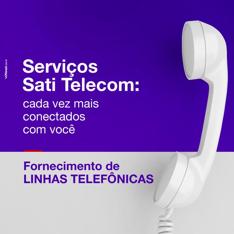 Fornecimento de linhas telefonicas